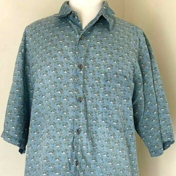 Tori Richard Other - Tori Richard Shirt XL Blue Tiki Aloha Hawaiian
